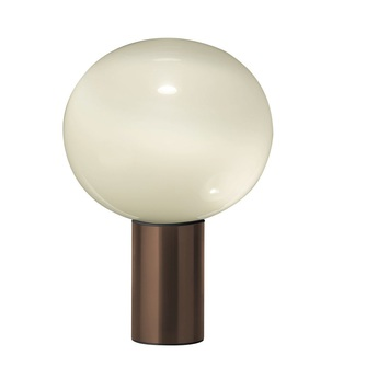 Lampe a poser laguna tavolo transparent fume bronze satine dimmable o37cm h54 1cm artemide normal