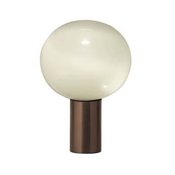 Lampe a poser laguna tavolo transparent fume bronze satine o16cm h24 1cm artemide normal