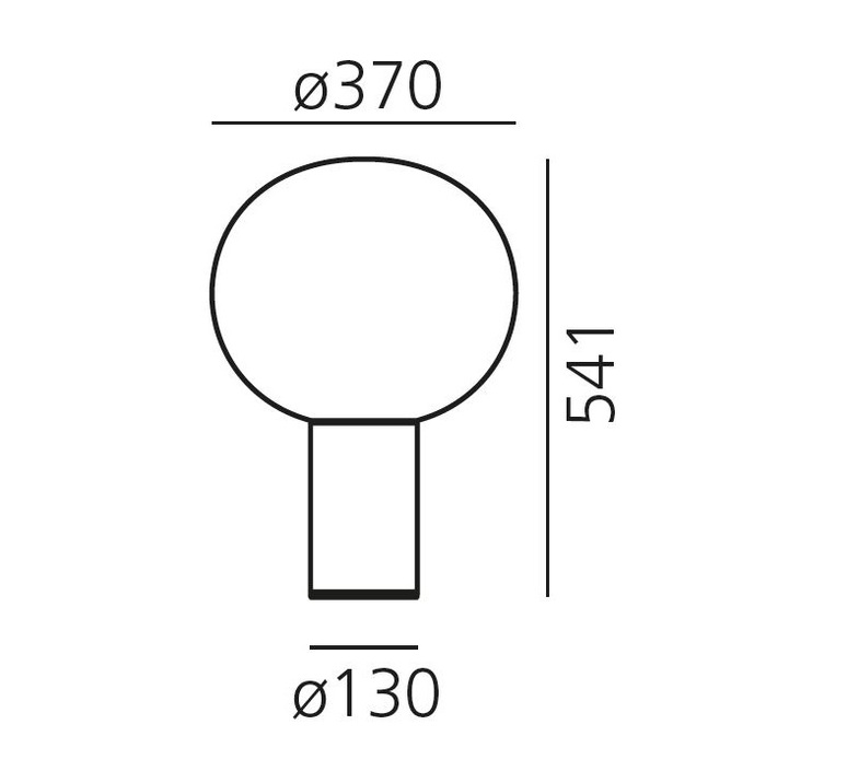 lampe poser laguna tavolo transparent fum laiton satin dimmable 37cm h54 1cm. Black Bedroom Furniture Sets. Home Design Ideas