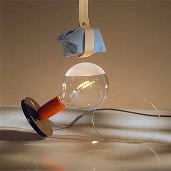 Lampe a poser lampadina orange led 2700k 200lm o12 5cm h24cm flos normal