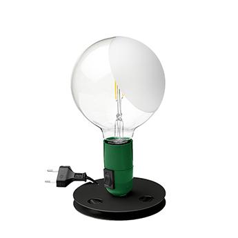 Lampe a poser lampadina vert led 2700k 200lm o12 5cm h24cm flos normal