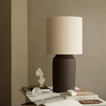 Lampe a poser lampclay l fume o23cm h45cm tine k home normal