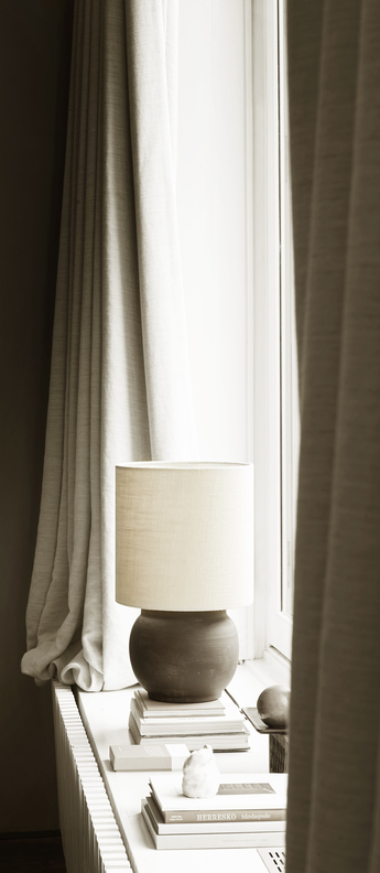 Lampe a poser lampclay s fume o25cm h30cm tine k home normal