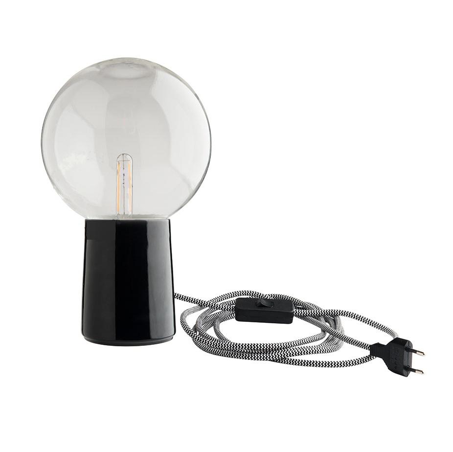 De PorcelaineBlackØ11cmH13 5cm Zangra LampLampe Table En eEIDH9W2Y