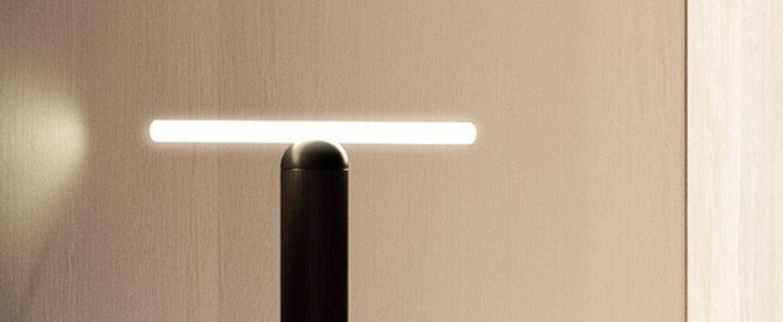 Lampe a poser lampe de table smile 3 blanc noir o4cm h20cm beem normal