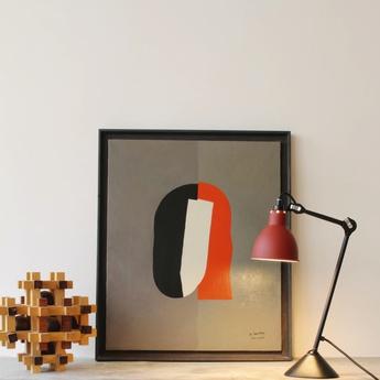 Lampe a poser lampe gras 205 noir rouge h73cm dcw editions normal