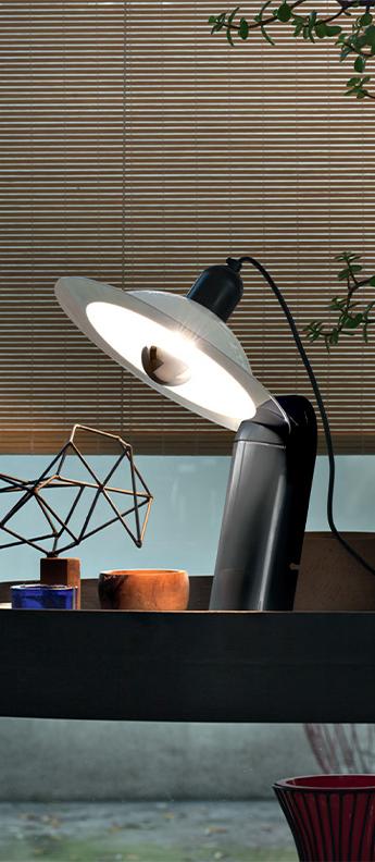 Lampe a poser lampiatta noir l28 2cm h48 4cm stilnovo normal