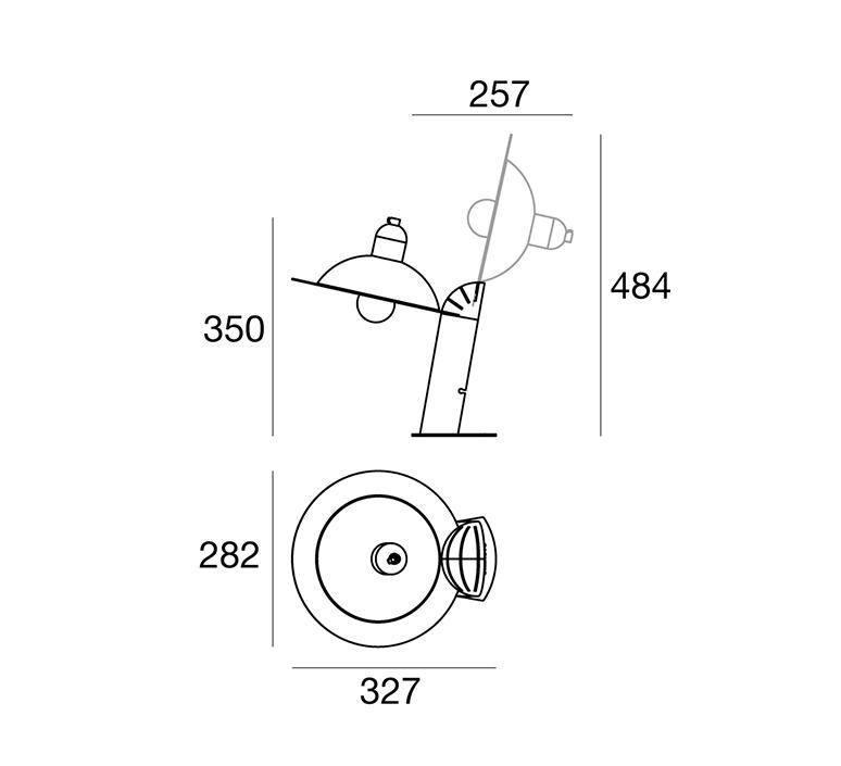 Lampiatta studio de pas d urbino lomazzi lampe a poser table lamp  stilnovo 8972  design signed nedgis 119120 product
