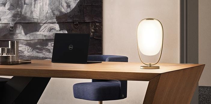 Lampe a poser lanna laiton o22cm h40cm kundalini normal
