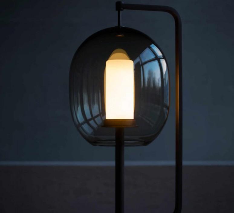 Lantern light neri et hu lampe a poser table lamp  classicon lantern light table lamp burnished brass  design signed 49823 product