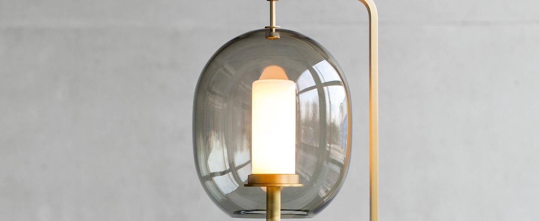 Lampe a poser lantern light laiton led o21cm h54cm classicon normal