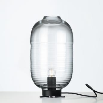 Lampe a poser lantern noir transparent o22 5cm h41 5cm bomma normal