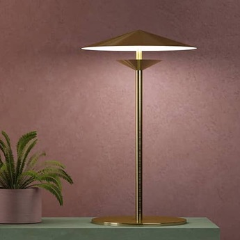 Lampe a poser laos dore led 3000k 700lm o25cm h40cm kaishi normal