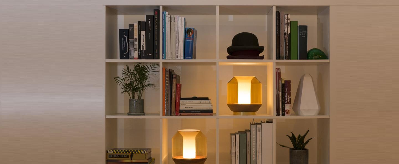 Lampe a poser lateralis marron o23cm innermost normal