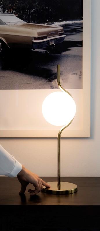 Lampe a poser le vita blanc or led 2700k 570lm l15cm h5 8cm faro normal