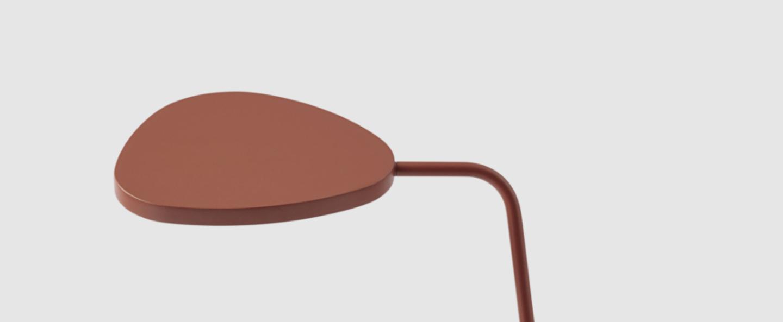 Lampe a poser leaf cuivre led 3000k 370lm l15 5cm h41 5cm muuto normal