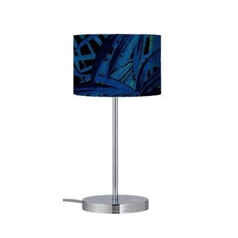 Lampe a poser leaves bleu electrique o17 5cm h49cm ebb flow normal