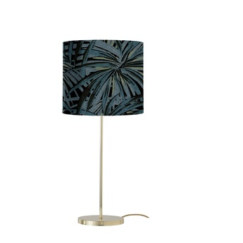 Lampe a poser leaves bleu electrique o35cm h82cm ebb flow normal