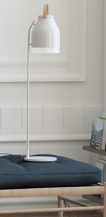 Lampe a poser led cowbell blanc h81 3cm ilomio normal