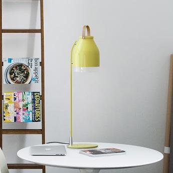 Lampe a poser led cowbell jaune pastel h66cm ilomio normal