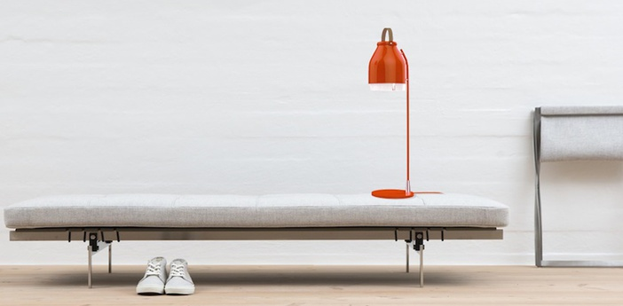 Lampe a poser led cowbell rouge h66cm ilomio normal