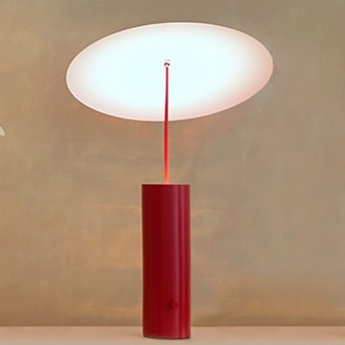 Lampe a poser led parasol rouge h50cm innermost normal