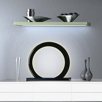 Lampe a poser led rgb dimable radius gateway wifi noir h65cm ilomio normal