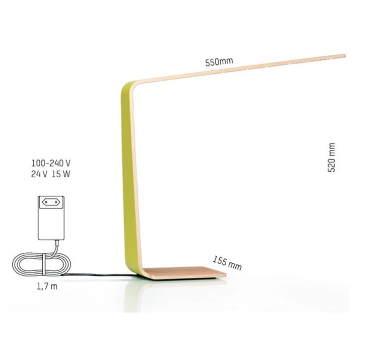 Led4 mikko karkkainen tunto led4 walnut white luminaire lighting design signed 12240 product