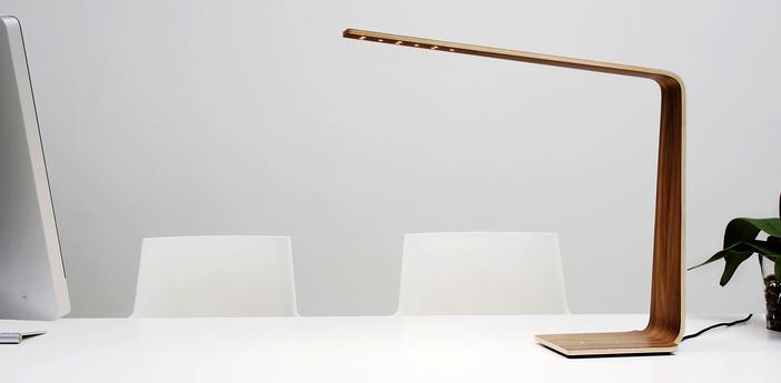 Lampe a poser led4 noyer h52cm tunto normal