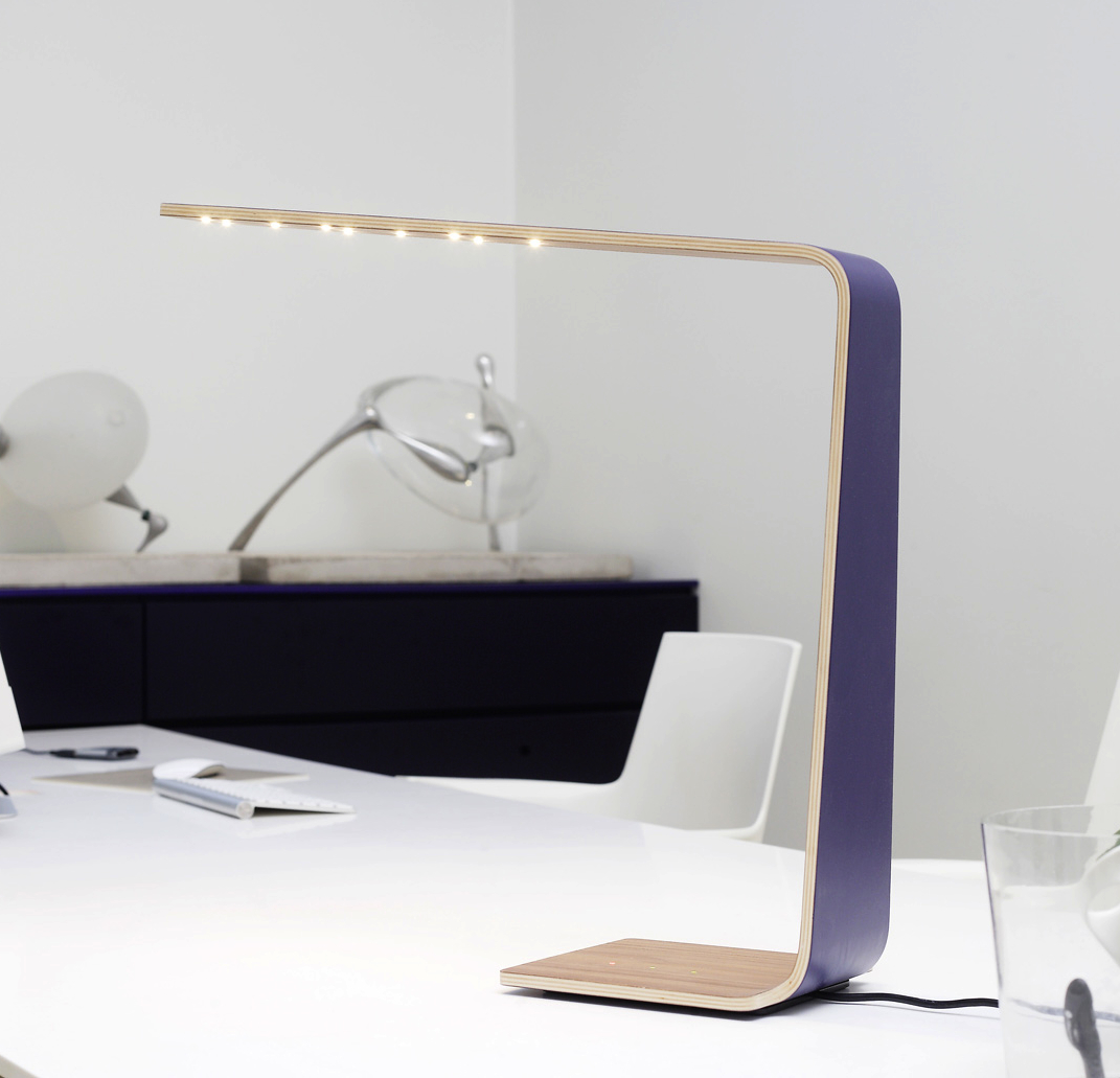 lampe poser led4 violet h52cm tunto luminaires nedgis. Black Bedroom Furniture Sets. Home Design Ideas