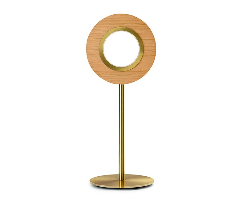Lens circular mut design lampe a poser table lamp  lzf lens cr m gd led 21  design signed nedgis 76584 product