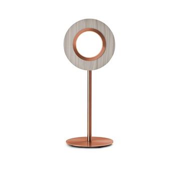 Lampe a poser lens circular gris metal finition cuivre led 1800k a 3000k 1930lm l21 6cm h55cm lzf normal