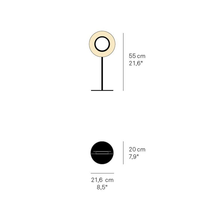 Lens circular mut design lampe a poser table lamp  lzf lens cr m bk led 29  design signed nedgis 76537 product