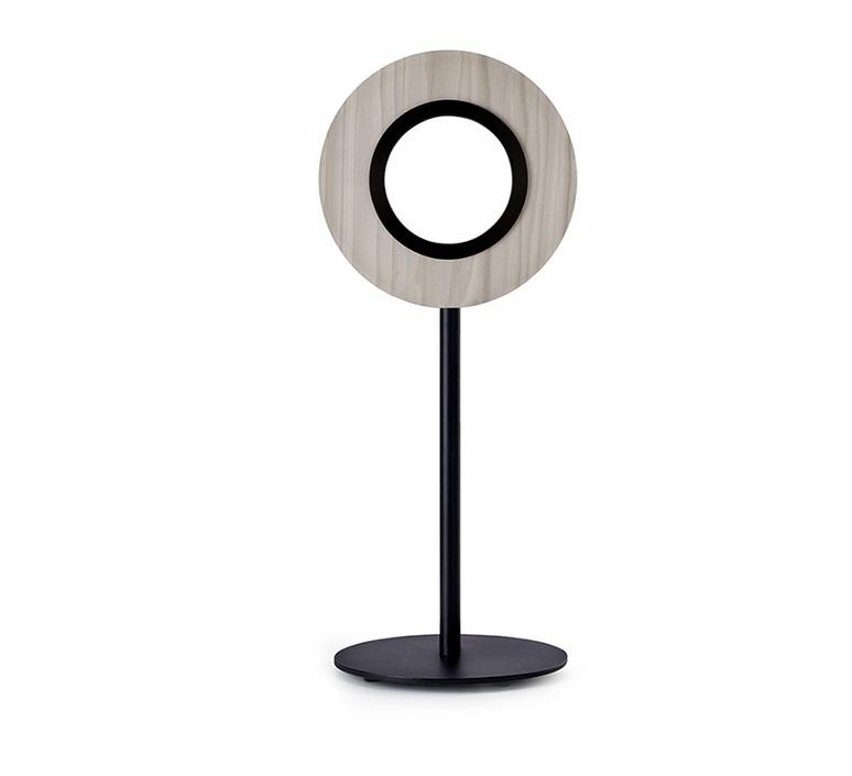 Lens circular mut design lampe a poser table lamp  lzf lens cr m bk led 29  design signed nedgis 76538 product