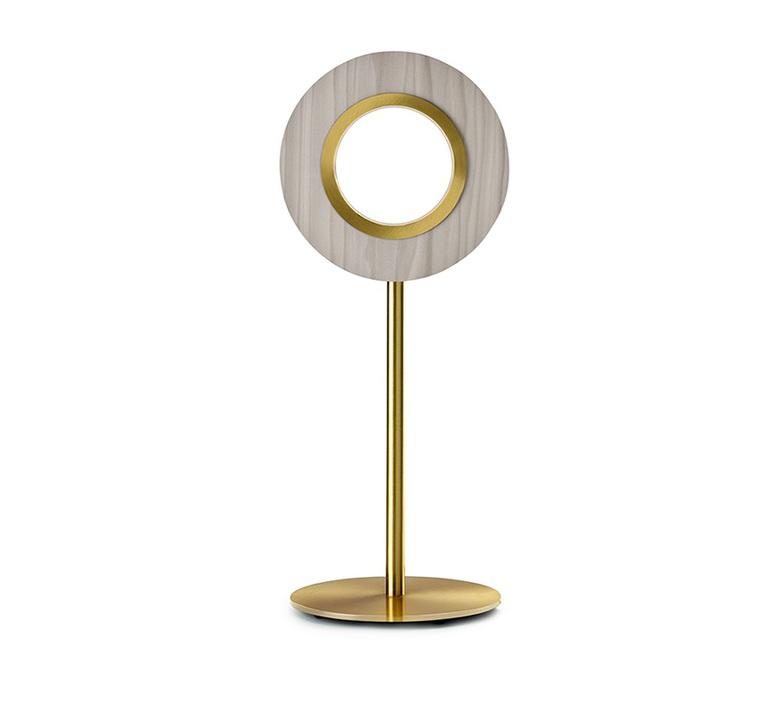 Lens circular mut design lampe a poser table lamp  lzf lens cr m gd led 29  design signed nedgis 76592 product