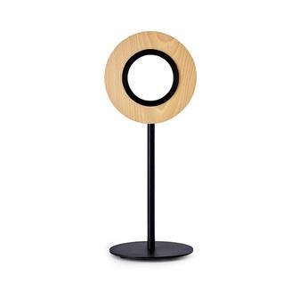 Lampe a poser lens circular hetre metal finition noir mat led 1800k a 3000k 1930lm l21 6cm h55cm lzf normal
