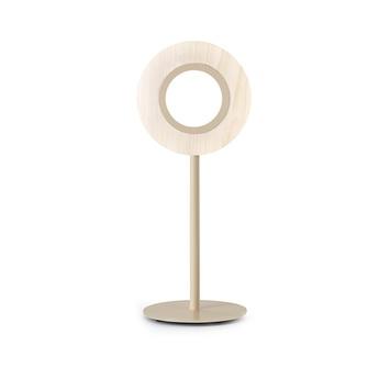 Lampe a poser lens circular ivoire metal finition ivoire led 1800k a 3000k 1930lm l21 6cm h55cm lzf normal