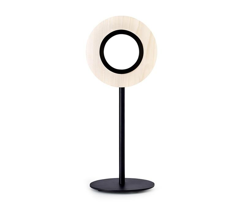 Lens circular mut design lampe a poser table lamp  lzf lens cr m bk led 20  design signed nedgis 76525 product