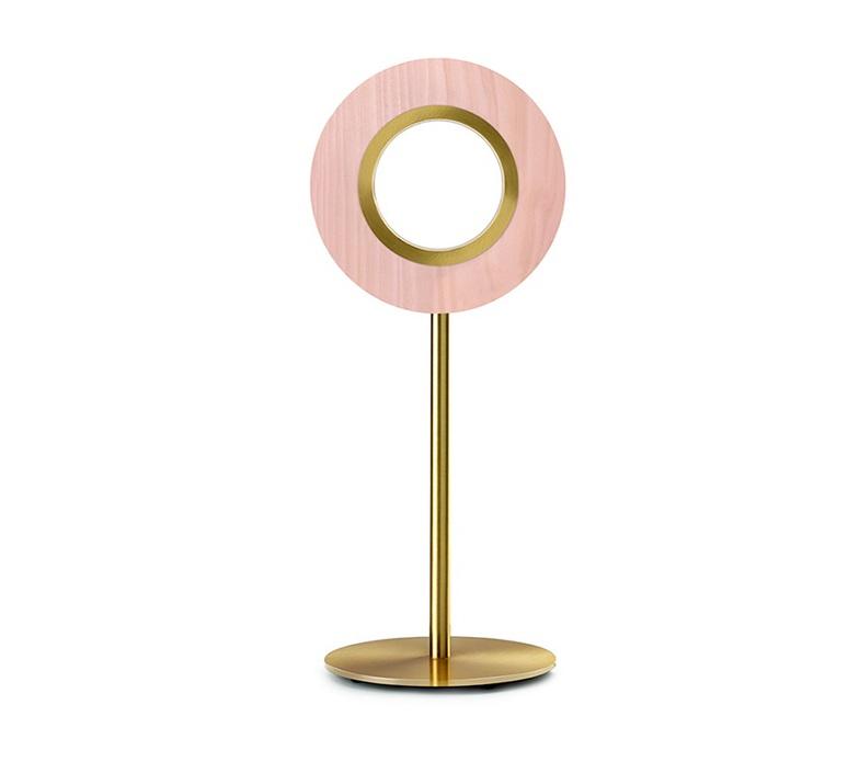 Lens circular mut design lampe a poser table lamp  lzf lens cr m gd led 33  design signed nedgis 76600 product