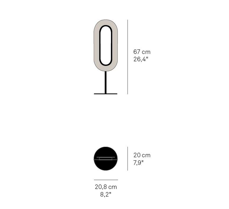 Lens oval mut design lampe a poser table lamp  lzf lens ov m bk led 20  design signed nedgis 76384 product