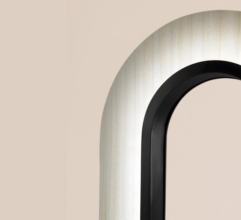 Lens oval mut design lampe a poser table lamp  lzf lens ov m bk led 20  design signed nedgis 76385 product