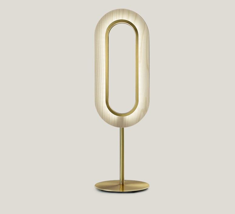 Lens oval mut design lampe a poser table lamp  lzf lens ov m gd led 20  design signed nedgis 76449 product