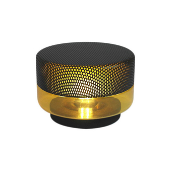 Lampe a poser light drop small ambre anthracite o20cm pulpo normal
