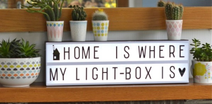 Lampe a poser lightbox a5 blanc noir h50cm a little lovely company normal