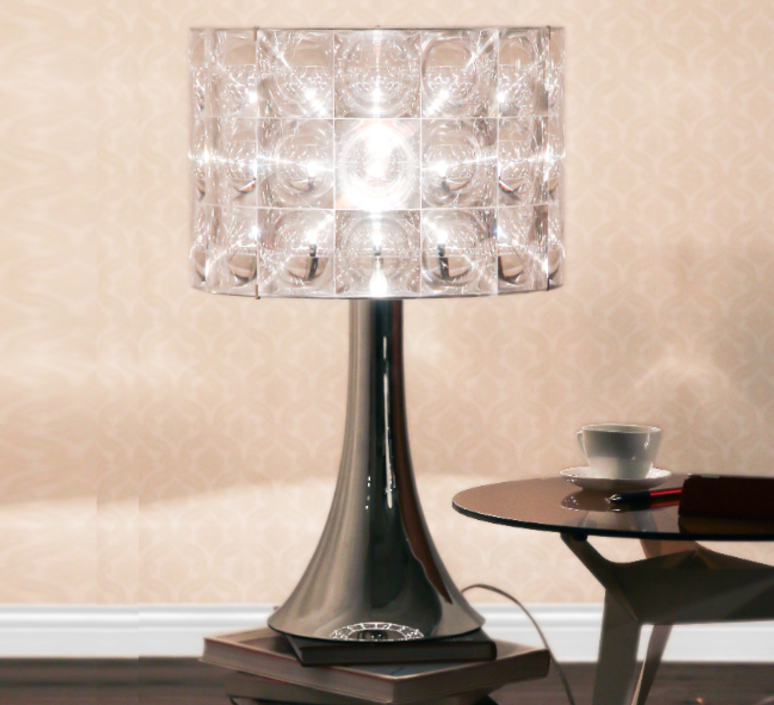Table Lamp Lighthouse Transparent Chrome H80cm Innermost