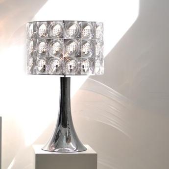 Lampe a poser lighthouse transparent chrome h80cm innermost normal