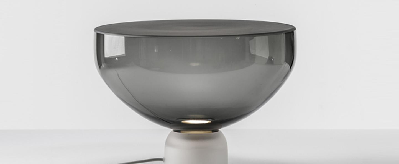 Lampe a poser lightline l gris o45cm brokis normal