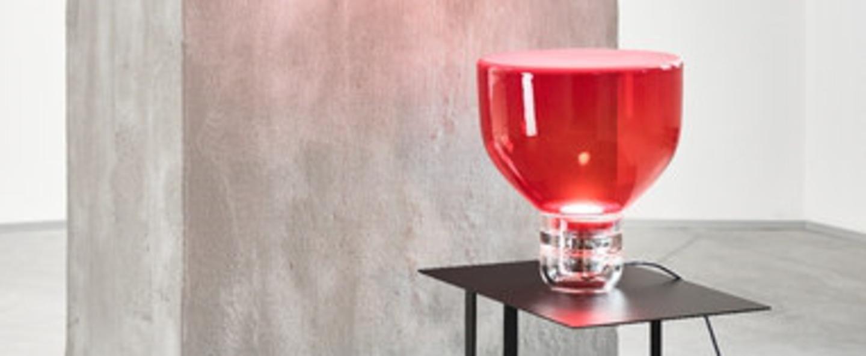 Lampe a poser lightline s rouge h34cm brokis normal