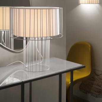 Lampe a poser linda blanc led h47cm o40cm faro normal