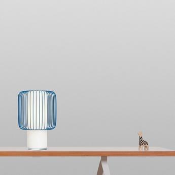 Lampe a poser line bleu h30cm o19 5cm teo normal